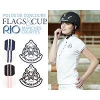 Polo de Concours Flags&Cup RIO Manches Courtes